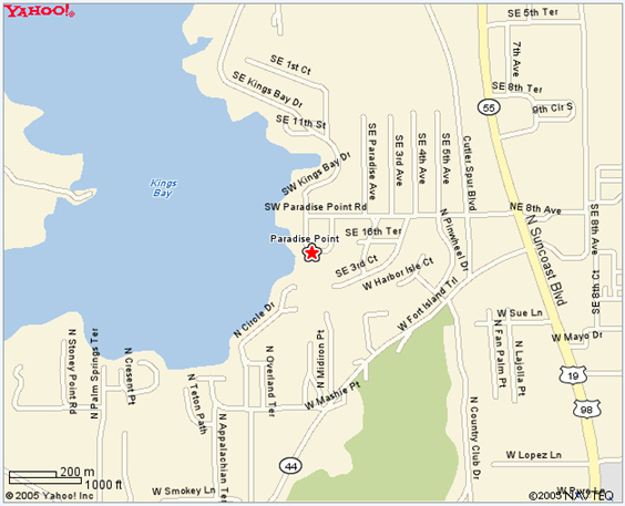 Us 19 Florida Map.Port Hotel And Marina Home Of The Manatee Crystal River Florida